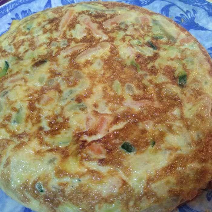 tortilla-verduras-rapida